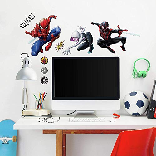 RoomMates Spider-Man Miles Morales Peel And Stick Wall Decals,black, red, blue, purple