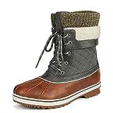 DREAM PAIRS Women's Monte_01 Tan Khaki Mid Calf Winter Snow Boots Size 9 M US