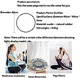 HZYDD Portable simplicité élégante Petite Ronde Tapis de Yoga Coussin...