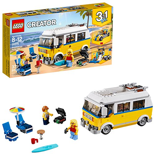 LEGO Creator 3in1 Sunshine Surfer Van 31079 Building Kit (379 Pieces)
