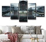 Haojie 5 Piezas-asedio Mural, impresión del Arte de la Pintura de la Lona, Familiar Sala de Estar Dormitorio Decoración Pintura, Cinco Partes,B,M