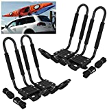 Car Rack & Carriers© Universal 2 Pairs J- shape Rack HD Kayak Carrier Canoe Boat. Surf Ski Roof Top Mounted on Car SUV Crossbar