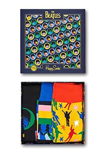 Happy Socks x The Beatles Abbey Road Confezione regalo donna - 3 pezzi (0100)-(36-40)