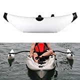 Dingq Kayak PVC Inflatable Outrigger Kayak Canoe Fishing Boat Standing Float Stabilizer System-White