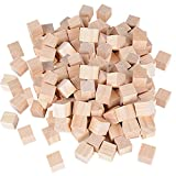 100pcs 20mm Cube Bois Naturels Blocs Carrés Boiseries Artisanat Accessoirs...