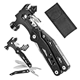 Multitool Hammer, Selemoy 16-in-1 Gear and Equipment, Multi Tool with Knife, Hammer, Screwdrivers Pliers Bottle Opener, Durable Sheath Gifts for Men Women Fishing, Survival and More