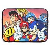 Smash Bros Pretty Soni_c Mega Man Mario Bolsa de Manga para computadora portátil 15 ″ Funda para computadora Maletín para Tableta Mensajero portátil Impermeable