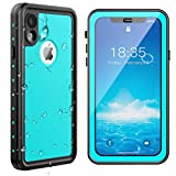 SPIDERCASE iPhone XR Waterproof Case, Upgraded Version with Clear Sound, Built-in Screen Protector Dustproof Snowproof Shockproof Waterproof Case for iPhone XR 2018 Released 6.1 inch (Teal)