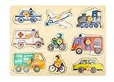 Small Foot 11503 Puzzles Ville en Bois avec Motifs détaillés des véhicules,...