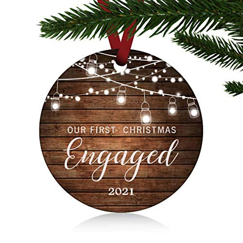 ZUNON Our First Christmas Engaged Ornaments 2021 Our First...