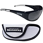 Officially licensed NFL product Licensee: Siskiyou Buckle Colorful rubber grips help keep the sunglasses in place while you enjoy your active lifestyle Whether you are sun bathing, camping or watching the team battle for victory these high quality su...