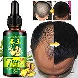 Sérum de croissance des Cheveux à l'huile de Germinal de Gingembre,Traitement de perte de cheveux, le sérum pour Cheveux Renforce les racines des Cheveux,pour les Hommes et les Femmes-1PCS