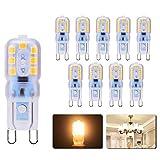 Ampoule 3W G9 LED, G9 LED Lampe Lumière Blanc Chaud (30W Ampoules...