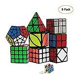 YGZN Speed Cube Set 8 Pack 2x2 3x3 4x4 Speed Cube ,Megaminx Pyramid Skewb lvy...