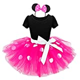 IEFIEL Enfant Fille Costume Tenues Carnaval Justaucorps Danse Classique Tutu à...