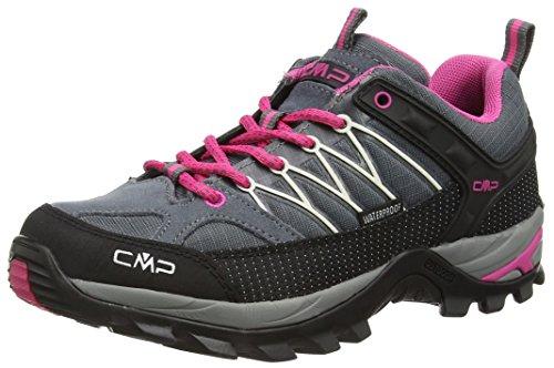 CMP Rigel 3Q54456 Damen Low Trekking Schuhe WP, grau (grey-fuxia-ice 103Q), 40...