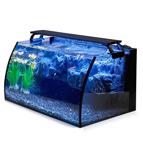Hygger Horizon 8 Gallon LED Glass Aquarium Kit for Starters with...