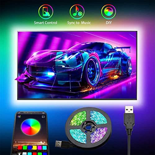 Strisce LED USB, Romwish 3M retroilluminazione LED TV con controllo da APP striscia LED RGB per TV da 40 pollici-60 pollici, sincronizzazione con musica, Adatto a TV, PC Monitore e Camera da Letto