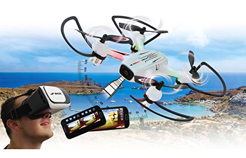 Jamara 422029 - Angle 120 Altitude HD Wifi VR - incl. Visore VR, Altitude Hold Adj., Bussola/Flyback, Track follow, 120, Avviso bassa tens., 40 Km/h