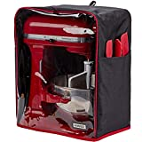 HOMEST Visible Stand Mixer Dust Cover with Pockets Compatible with KitchenAid Tilt Head 4.5-5 Quart, Black