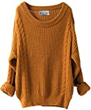 Liny Xin Women's Cashmere Oversized Loose Knitted Crew Neck Long Sleeve Winter Warm Wool Pullover...