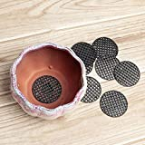Raguso 10 Uds Almohadilla para Maceta Bonsai Rejilla Inferior a Prueba de Fugas Negro para macetas de Plantas de Interior Herramientas de jardinera(4.5cm in Diameter)