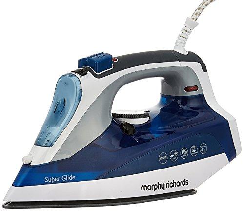 Morphy Richards Super Glide 2000-Watt Steam Iron (White/Blue)