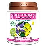 Complexe 2 Huiles | Onagre Bio | Bourrache Bio | Vitamine E | 200 capsules |...