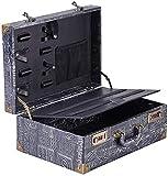 Peluquero estilista caja con cerradura de la contraseña adjunta Llevar Pantalla portátil de viaje caja de almacenamiento Organizador, gris, 40x27.5x16cm, Tamaño: 40x27.5x16cm, Color: Gris maleta peluq