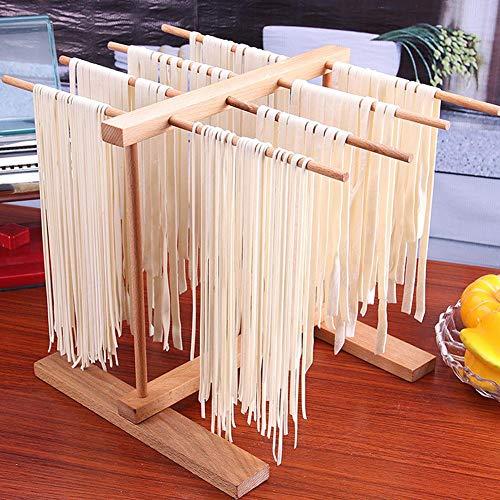 Seasaleshop Pastatrockner Nudelstander Stendipasta Aus Buchenholz Hölzerne zusammenklappbare Teigwaren-Spaghetti-Trockengestell Teigwaren-Trockengestell zusammenlegbarer Spaghetti-Trockner-Stand.