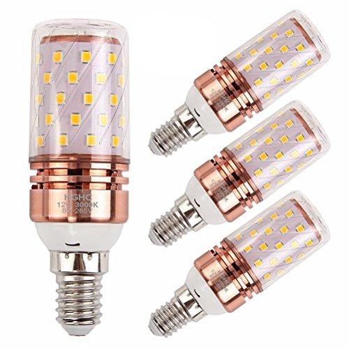 E14 Lampadina di mais LED 12W, HGHC 100W equivalenti a incandescenza, Bianco Caldo 3000K, AC85-265V...