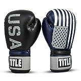 Title Boxing Tribute Bag Gloves, Black/Blue, 12 oz