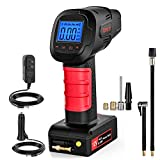 Tonsim Portable Cordless Tire Inflator Pump with Digital Pressure Gauge, Powerful Rechargeable Li-ion Battery Tire Air Pump