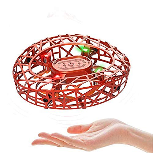 MARSMO Drones para Niños RC Mini Drone UFO Flying Ball 360° Rotación Flying Drone Quadcopter Controlado a Mano Recargable con Inducción Infrarroja Niños Flying Toy(Naranja)