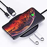 AUKEY USB C Hub Adapter with Wireless Charger 5-in-1 Type-C Hub with 2 USB 3.0 Ports, 4K HDMI and 60W Power Delivery Compatible with MacBook Pro 2019/2018/2017, Google Chromebook/Pixelbook and More