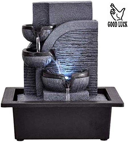 SCDXJ Zimmerbrunnen 3-Tier Tabletop Indoor Wasserfall...