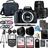 Canon EOS Rebel T7i DSLR Camera Bundle with Canon EF-S 18-55mm f/3.5-5.6 is STM Lens + Canon EF...