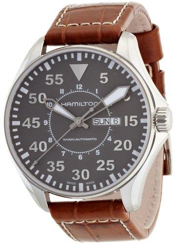 Hamilton Herren Analog Automatik Uhr mit Leder Armband H64715885