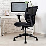 Wipro Furniture Candid Medium Back Executive Office Chair with Advanced Synchro Tilt Mechanism and 4 Way Adjustable Arms (Black)