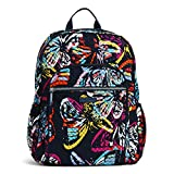 Vera Bradley Women's Signature Cotton Campus Backpack, Butterfly Flutter, One Size