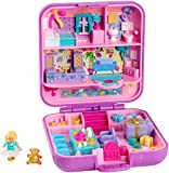 Polly Pocket - Maletín del 30 aniversario Partytime Surprise, muñeca con accesorios (Mattel GJJ51)