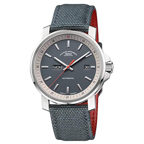 Muhle Glashutte 29er Herren-Armbanduhr 42mm Grau Automatik Analog M1-25-34-NB