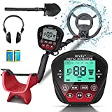 Professional Metal Detector for Adults & Kids, Stem Adjustable to 60.2', Gold Metal Detectors Lightweight with LCD Display, Pinpoint & Disc & Notch & All Metal 5 Modes, 10' Search Coil Waterproof