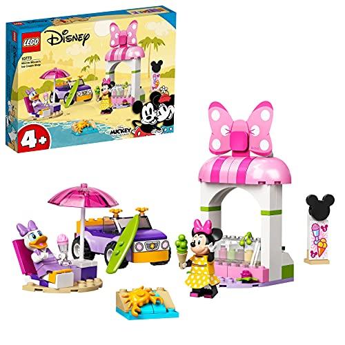 LEGO Disney Mickey and Friends La Gelateria di Minnie, Giocattoli Costruibili per Bambini di 4 Anni con Macchina e 2 Minifigure, 10773