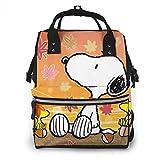 Bolsa de pañales - Otoño Snoopy Mommy Bolsa de bebé multifunción de gran capacidad de viaje mochila bolsa de pañales