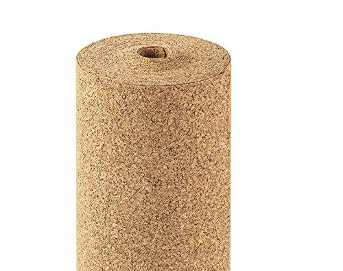 Rotolo sughero 2mm di spessore, 10qm, 10x 1m, daemmun terlage Roll sughero isolamento acustico/per...