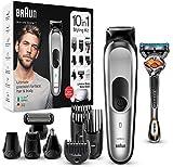 Braun MGK7220 10-en-1 recortadora, recortadora de barba, recortadora de cabello y recortadora de cuerpo con 8 ...