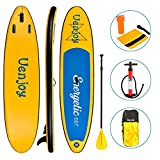 Uenjoy Inflatable Sup 11'30'x6' All Around Paddle Board, W/Full Accessories, Perfect for Yoga Fishing Touring (Yellow, 10')