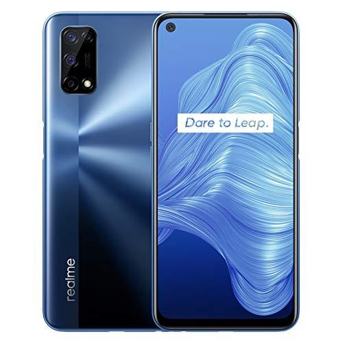 realme 7 5G - smartphone de 6.5, 6GB RAM + 128GB de ROM, 120Hz Ultra Smooth Display, 48MP Quad Camera, batería con 5000mAh y carga rápida de 30W Dart Charge - Color Azul