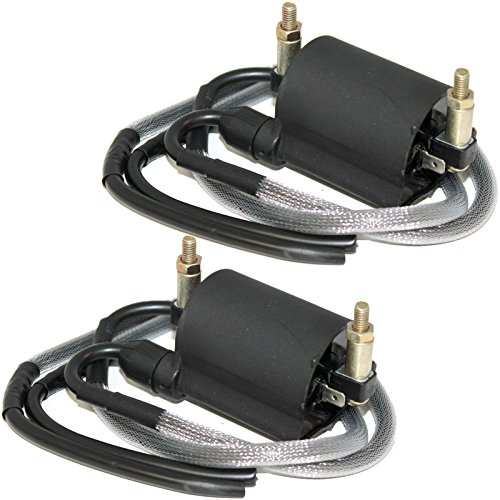 Caltric Front & Rear Ignition Coils Compatible With Kawasaki Vn1500 Vn-1500 Vulcan 1500 Nomad Fi 2000-2004